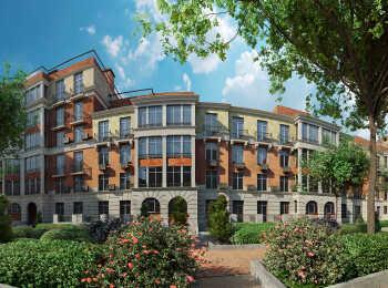 Фасады домов выполнены в двух стилях - экоклассики и экомодерна